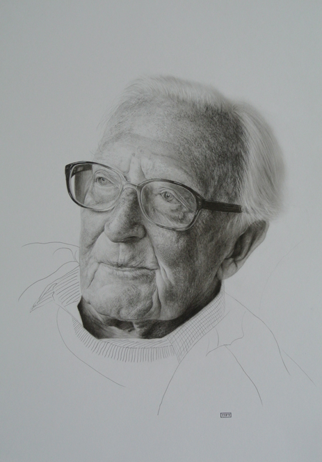 Charcoal Drawing of Lord Carrington