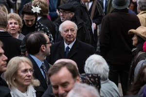 Arthur Scargill, former President of the National Union of Mineworkers, arr